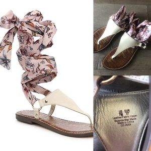 Sam Edelman Giliana Ankle Tie Thong Sandals Size 7